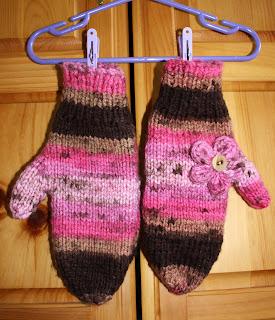 bollewangenhaptoet: chunky children's mittens