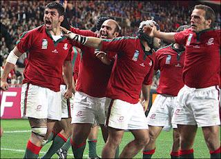 David Penalva e colegas festejam ensaio contra Itália