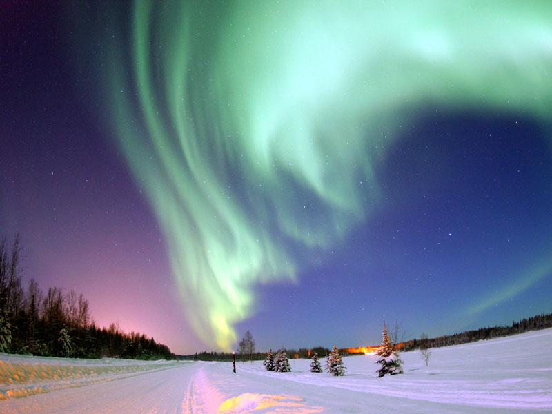 phenomenon of light. northern lights phenomenon