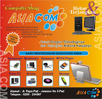 The  Pamphlet design of computer shop with corel draw 12