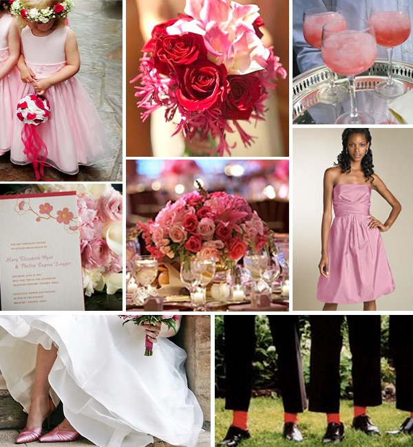 Pink And White Wedding Theme