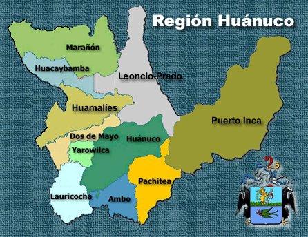 las provincias de huanuco: