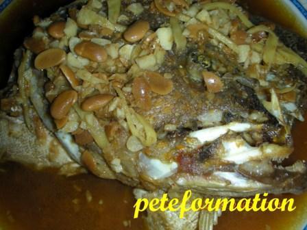 Peteformation foodie adventure simple grouper kepala for Fish head recipe