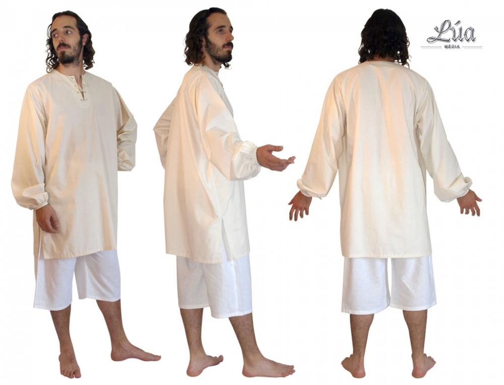 Camisa medieval, camisa siglo XIII, camisa lino