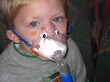 Reagan using the nebulizer