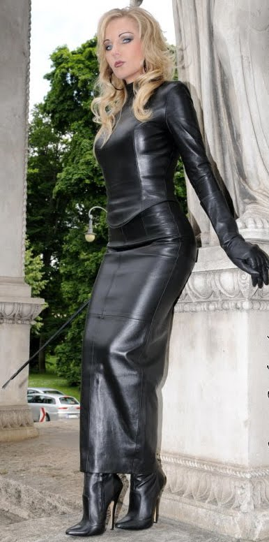 leather den leather suits blouses skirts or mini