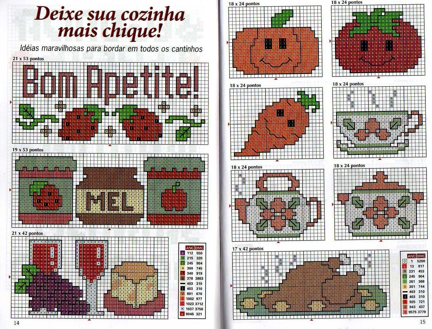 DOÇURAS DE PONTO CRUZ: mais gráficos para cozinha.. #9E432D 1505 1148