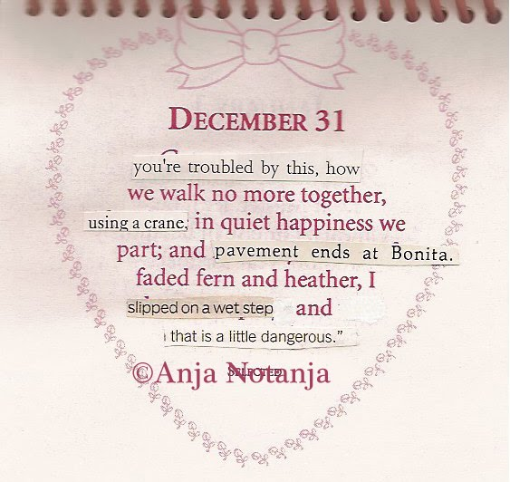 a calendar of altered quotes by notanja