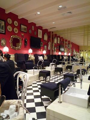 Gorgeous parisian interior design quite posh for a nail salon but i