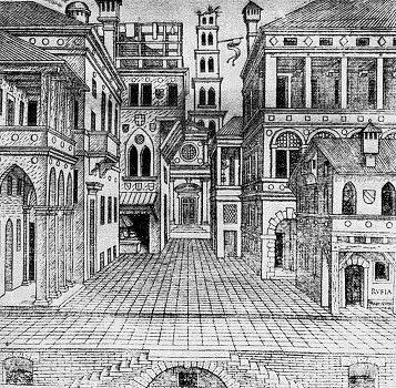 Cena de Comédia do Segundo Livro de Perspectiva, 1545