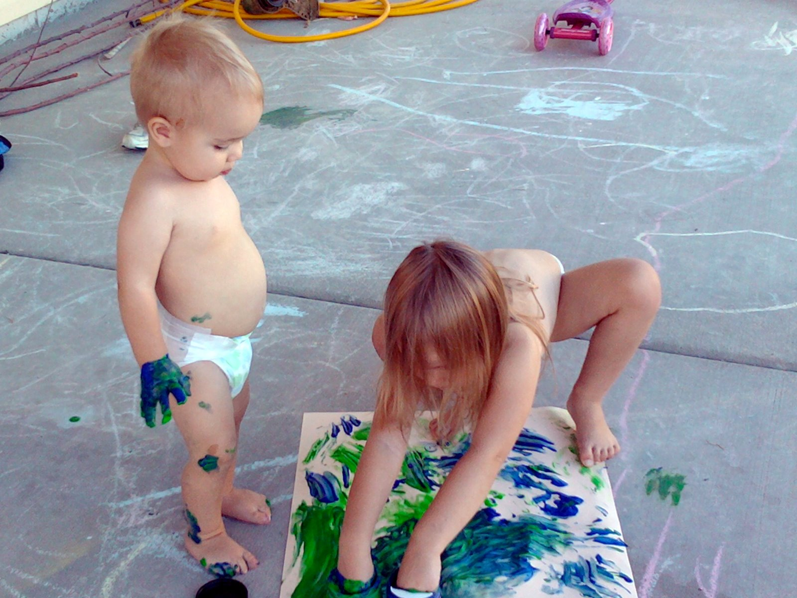 The Jacobs Clan Finger Painting
