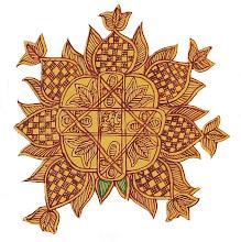 Mithila art (Aripan)