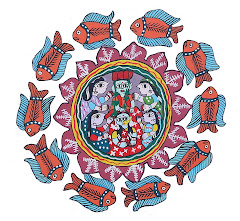 Mithila Art (Goodluck Sign)