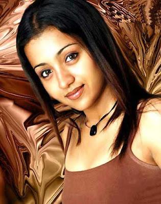 south indian actress Trisha Krishnan hot shirt boobs exposing hot image gallery