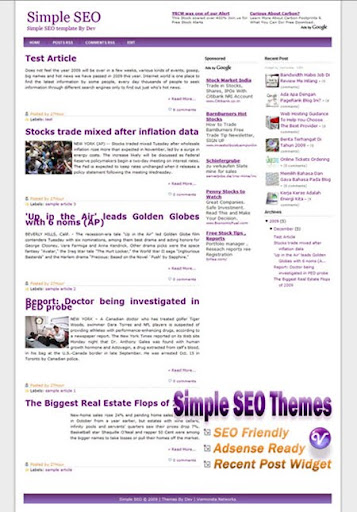 Simple SEO Blogger Themes