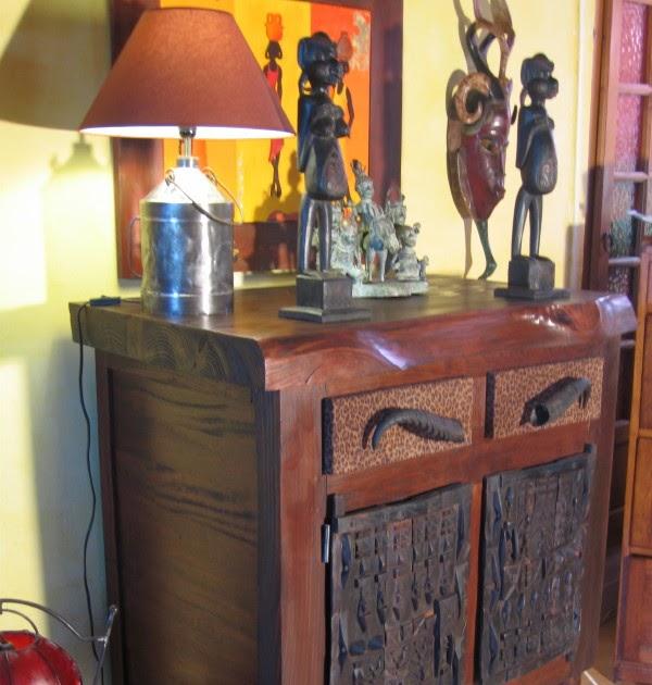 Phil d coration meuble style africain for Meuble africain