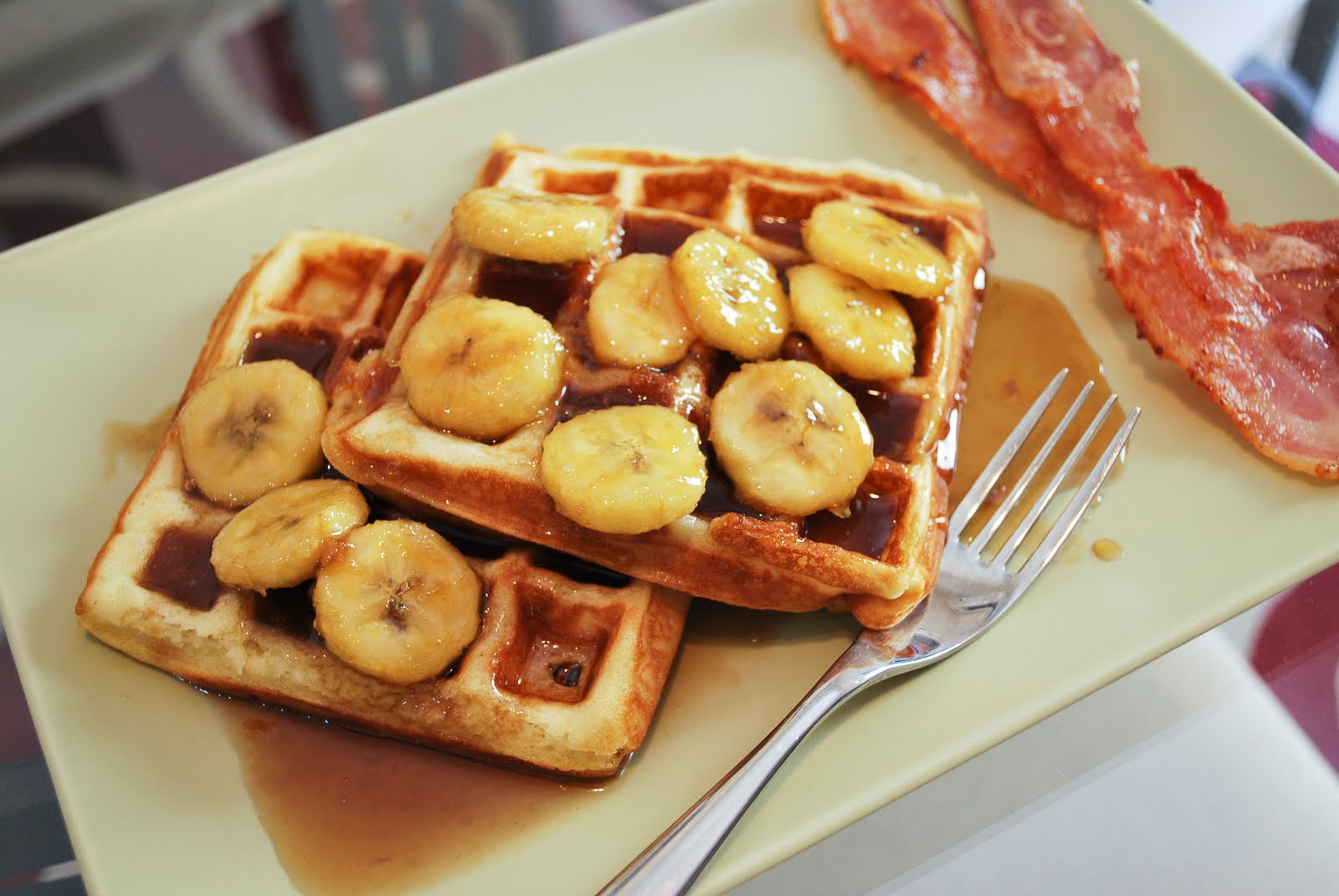 ... Pickles and Ice Cream: Raised Waffles with Warm Brown Sugar Bananas