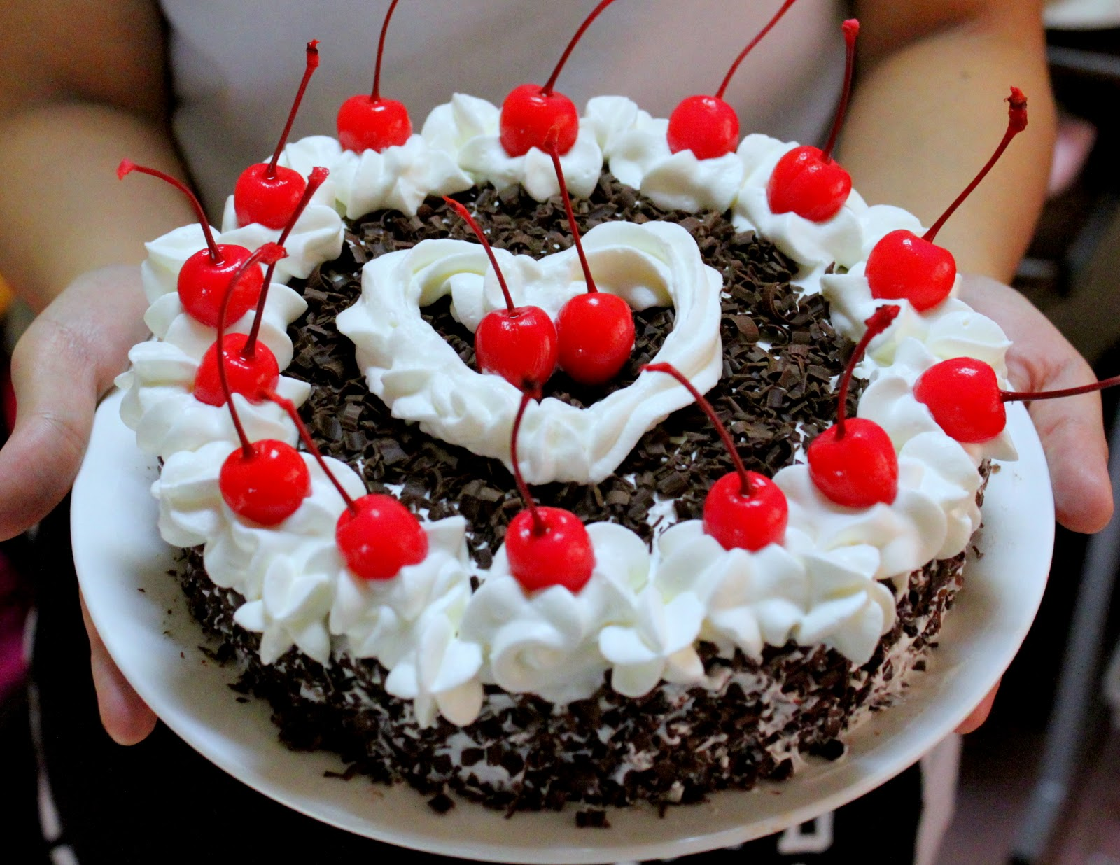 A Box Of Kitchen Black Forest Cake Is