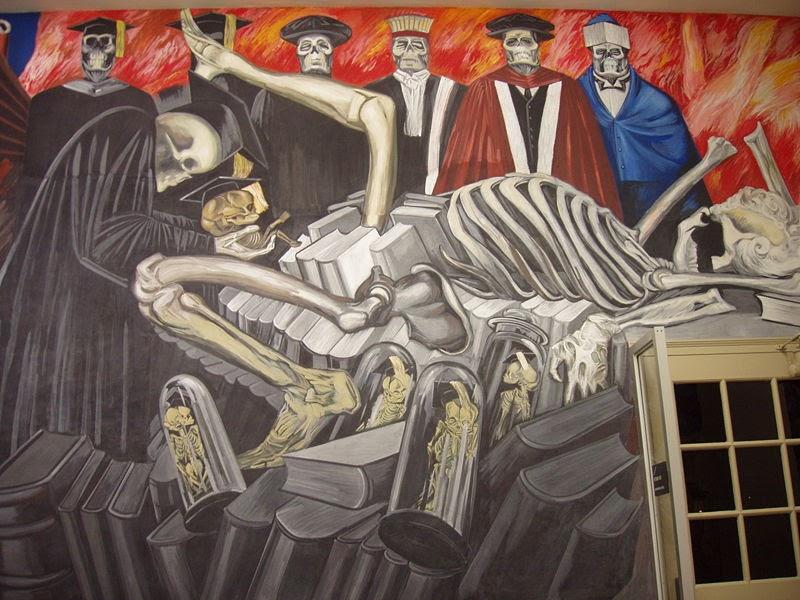 Jos clemente orozco dioses del mundo moderno for Dartmouth mural