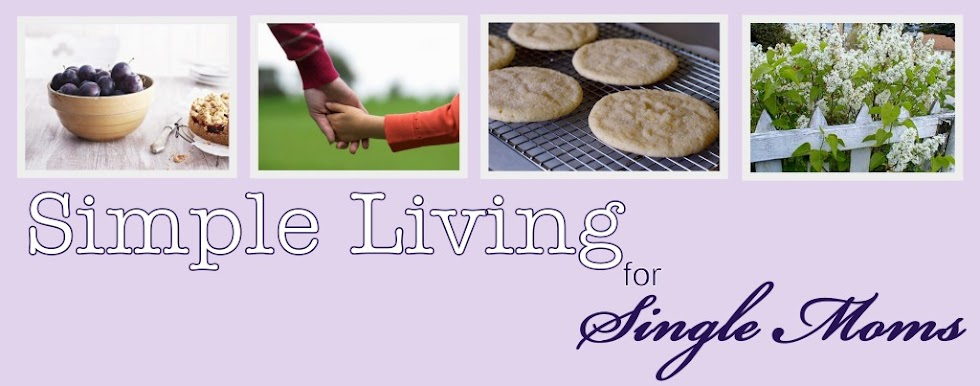 Simple living for single moms