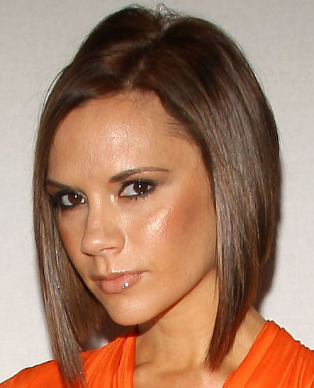 2010 Victoria Beckham Short Inverted Bob Hairstyles