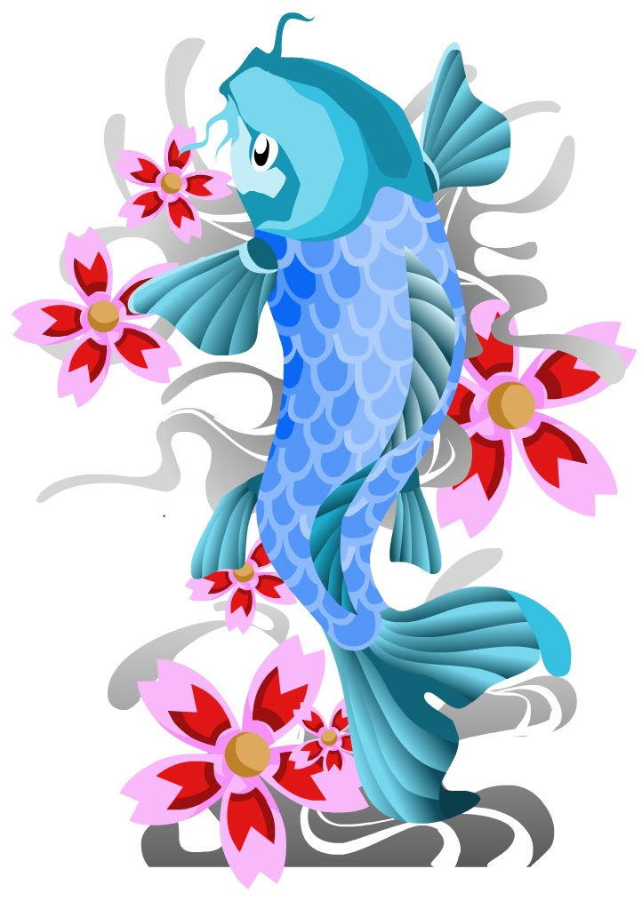 So Koi fish make a wonderful tattoo that can easily represent good luck,