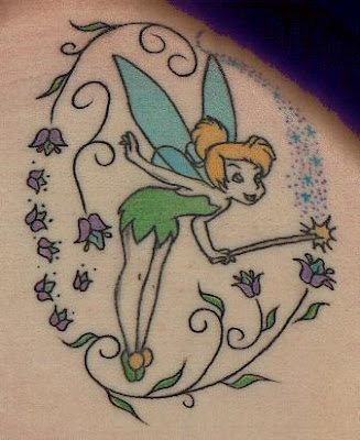aptly named cute fairy tattoo. Dainty, often whimsical images of a small