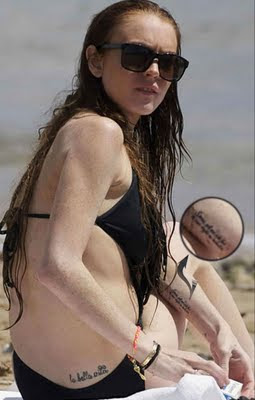lindsay lohan tattoo la bella Design