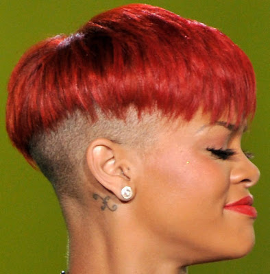 Rihanna short Boy Cut