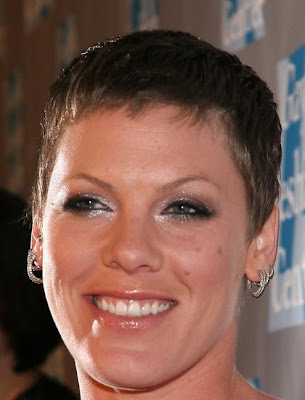Pink short Buzz cut