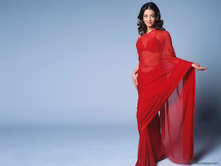 Red+saree
