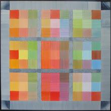 9 Farben auf Indigo