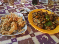 炒蜆+椒鹽鮮魷