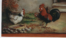A COCKEREL AND 2 HENS