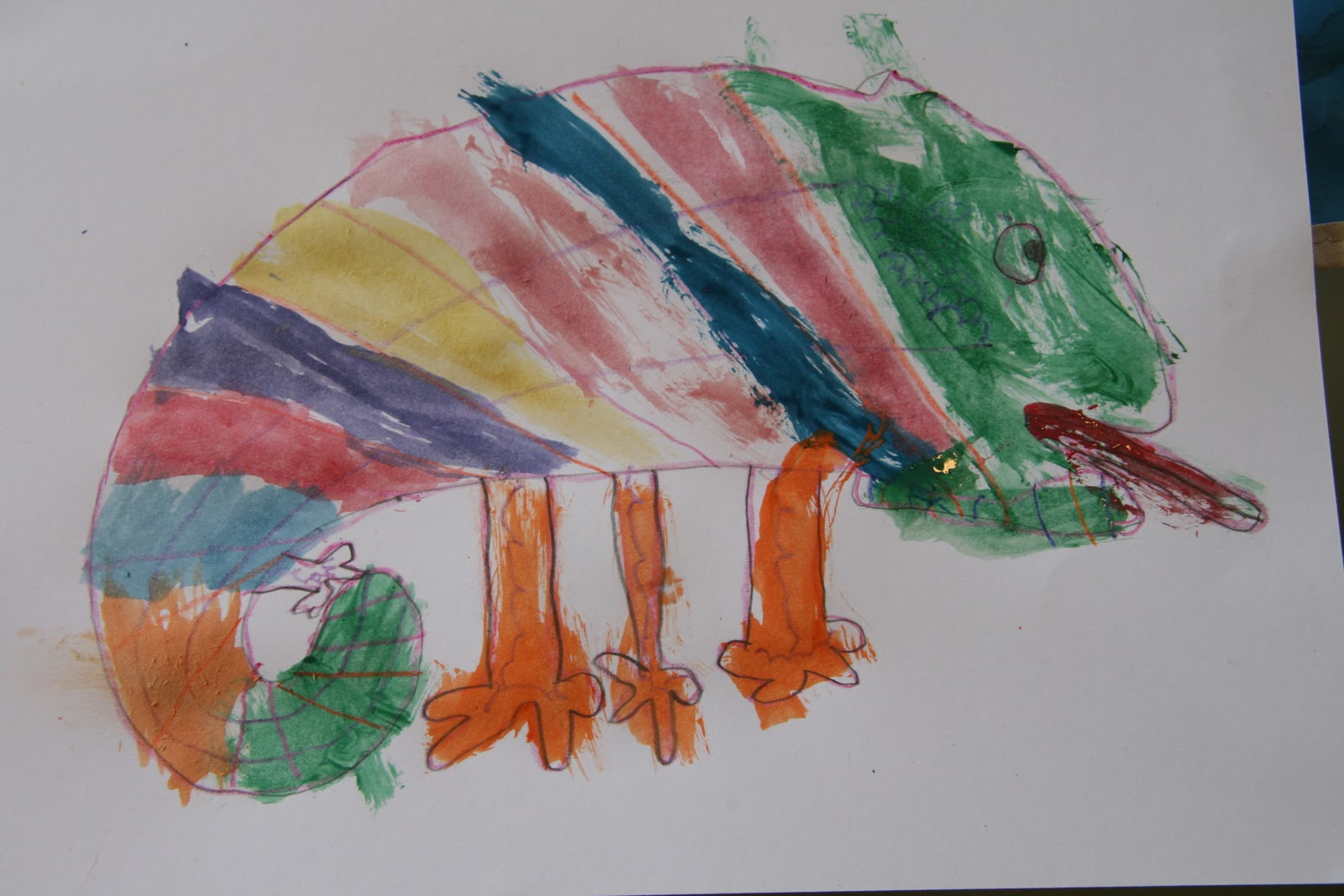 chameleon watercolor painting u0026 storytime