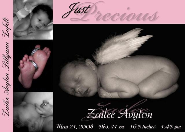 Zailee Avylon Lillyann's birth announcement