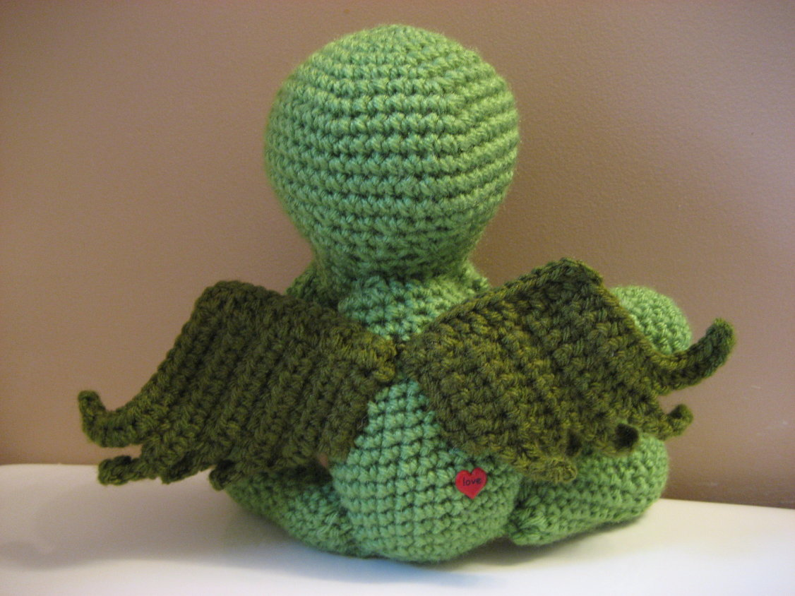 Cthulhu crochet and cousins cuddly cthulhu with free pattern cthulhu crochet and cousins bankloansurffo Choice Image