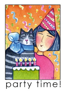 Cat Lady Lucinda And Feline Friend Tig Are Ready To Blow Out The Candles On Tigs Birthday Cake This Terrific Tabby Shares Her With Painter Paul