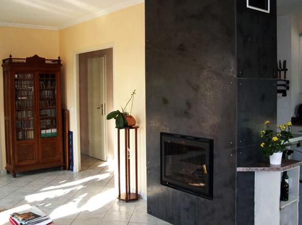 Habillage d 39 une cheminee - Transformer cheminee rustique en moderne ...