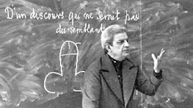 "our narrator, Jacques Lacan, emphasizes ""submission to symbols"""