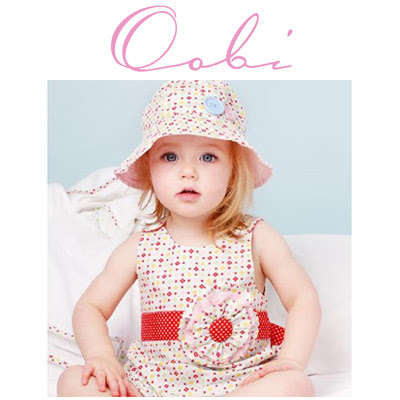 Oobi kids clothes have a handmade look using bright, modern fabric design.