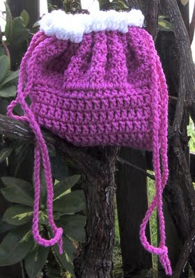 BeadedSocks by Daisy Designs: Crocheted Bassinet / Cradle Purses