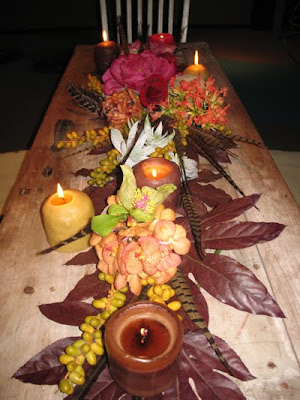 Fall wedding table inspiration from Minoo Hersini at Au Ciel Design Studio