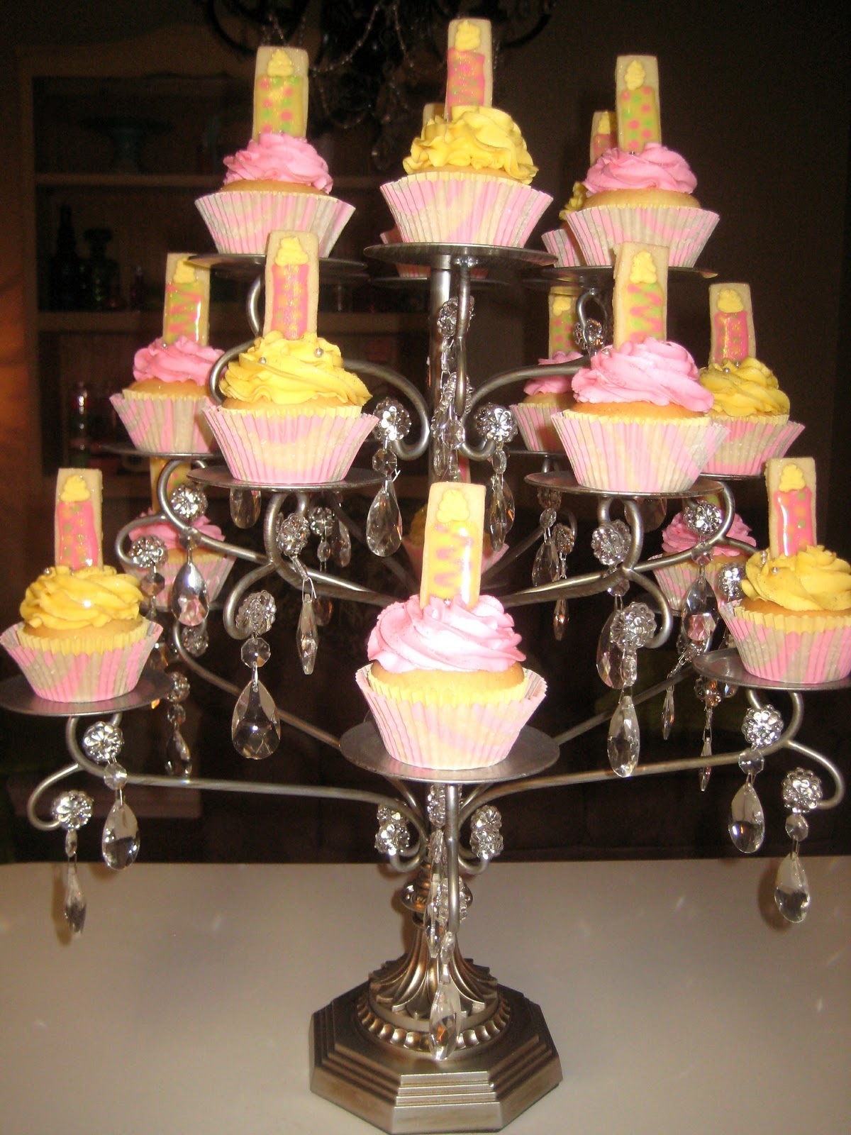 More than chocolate chandelier cupcake stand chandelier cupcake stand arubaitofo Image collections
