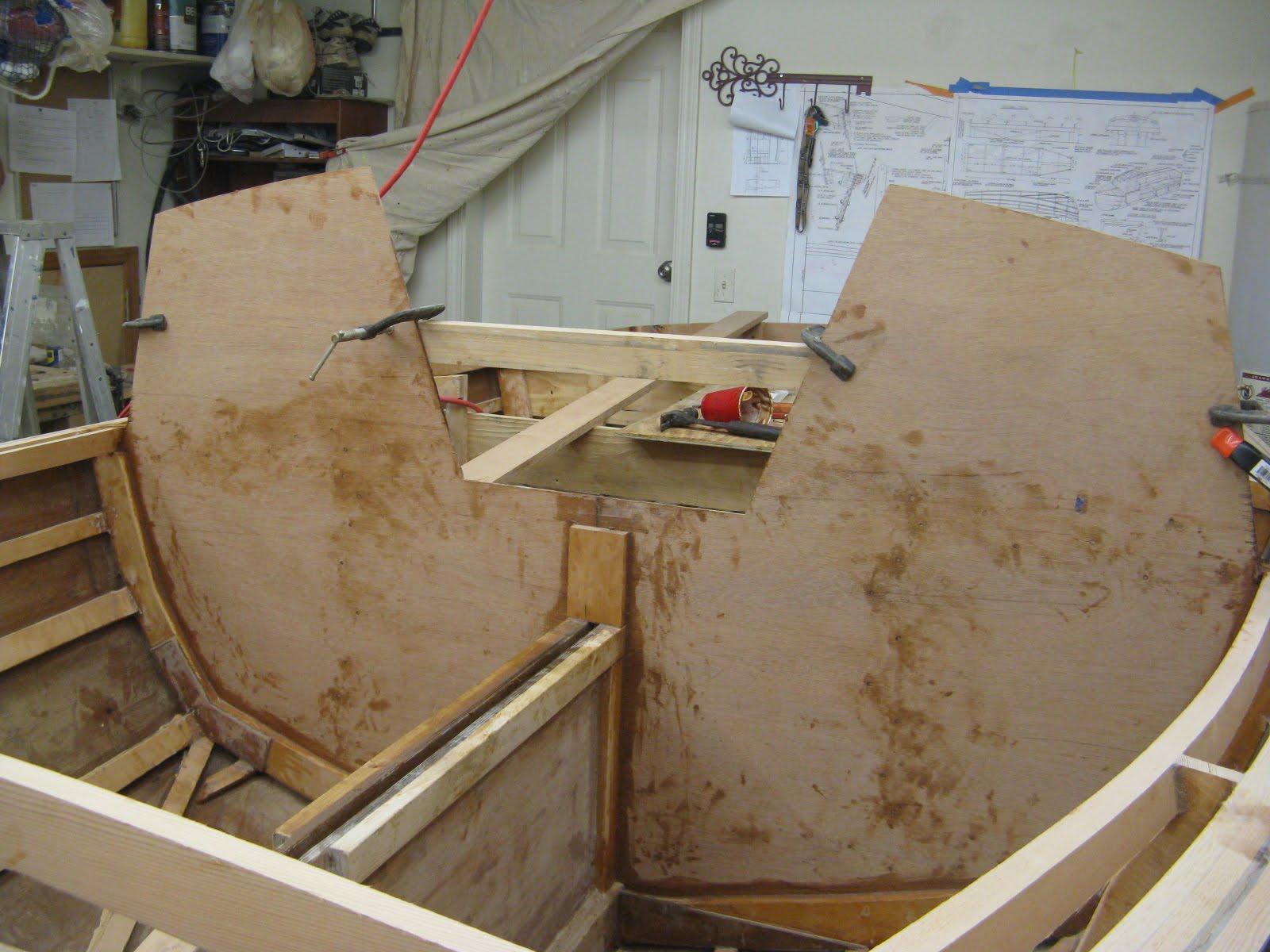 Hartley TS14 Construction: Bulkhead and nail strip