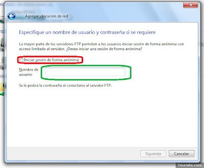 Conectar FTP sin programas