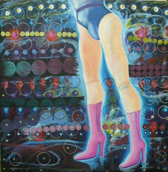 Bailarina con luces ventosas
