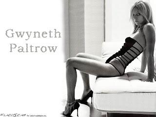 Gwyneth Paltrow black and white half dressed wallpaper