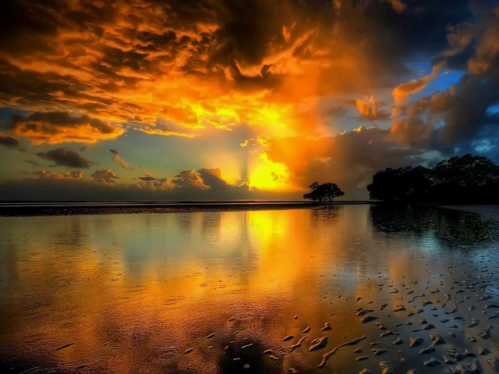 The Wonderful Sunset  Top Desktop  Top Desktop No1 # Sunshower Lake_065423