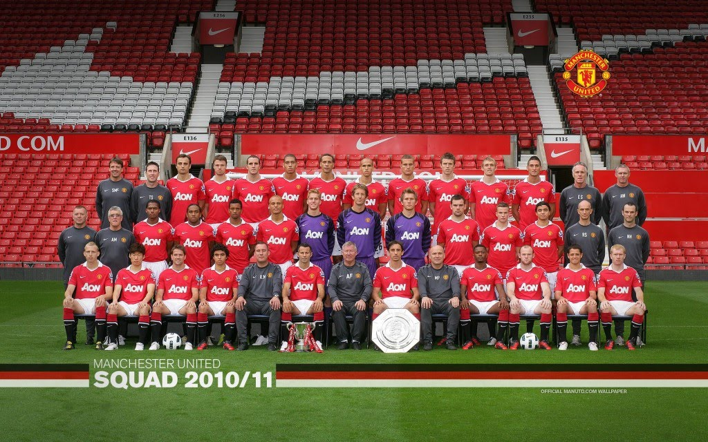 top desktop wallpapers 2010. Manchester United Squad 2010/